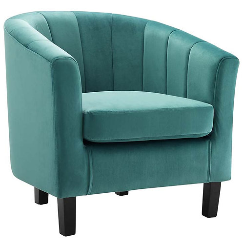Tufted Upholstered Armchair in Teal