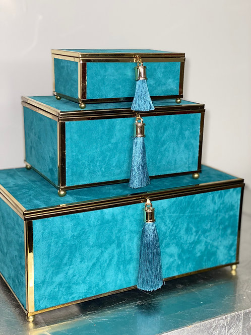 Teal and Gold Box Set of 3