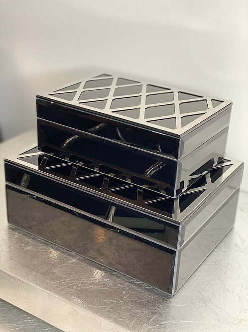 Black and Silver Glass Box Set