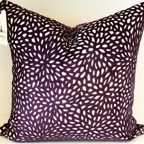 Pixie Plum Cut Velvet Pillow