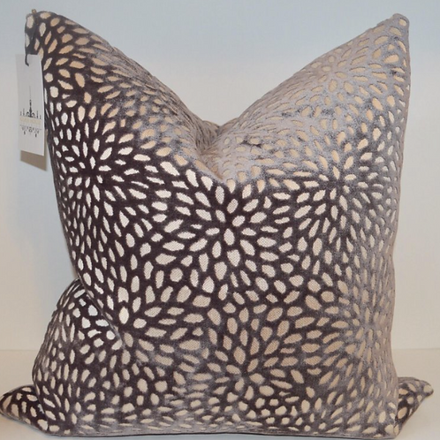 Gray Area Velvet Pillow