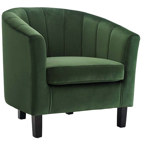 Tufted Upholstered Armchair in Green