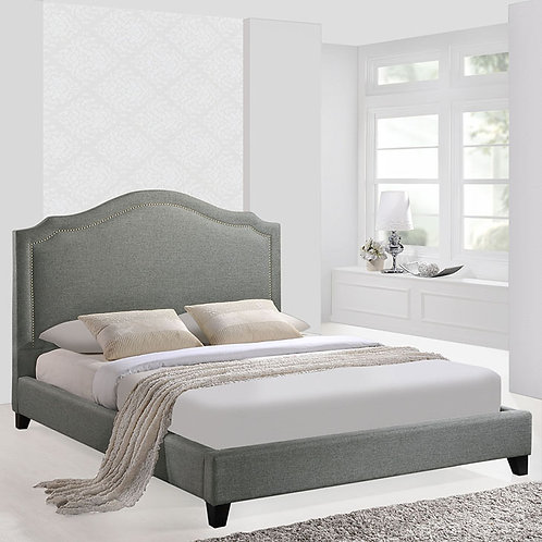 Queen Bed in Gray