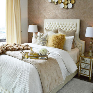 Glam for breakfast anyone_ This master bedroom transformation is complete. We gave our client the light and luxurious room of her dreams.jpg