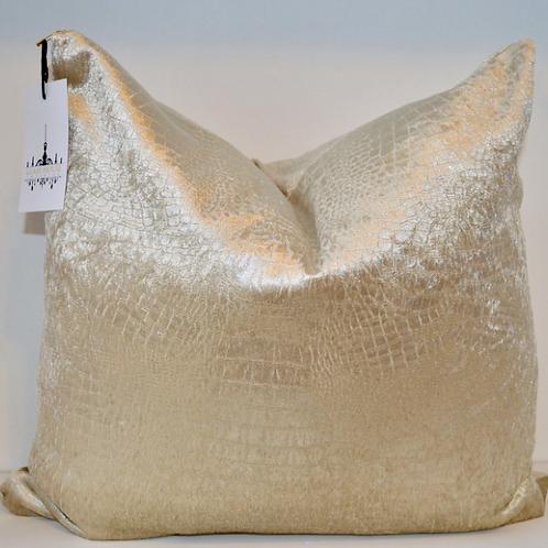 Champagne Velvet Croc Pillow
