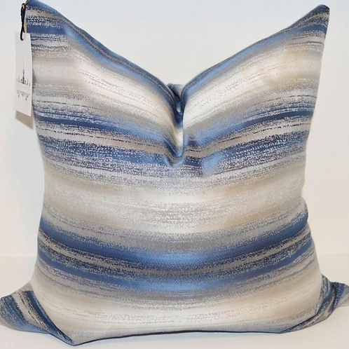 Blue Ice Metallic Pillow
