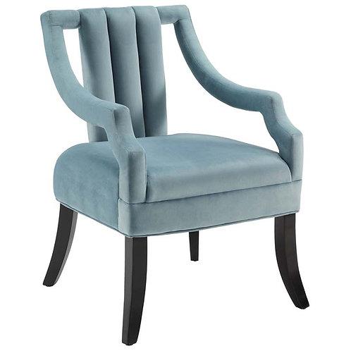 Velvet Accent Chair in Light Blue