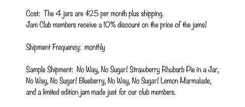 No Way, No Sugar! Only Monthly Membership