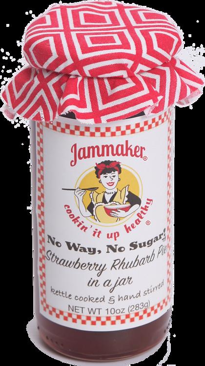 No Way, No Sugar! Strawberry Rhubarb Pie in a Jar