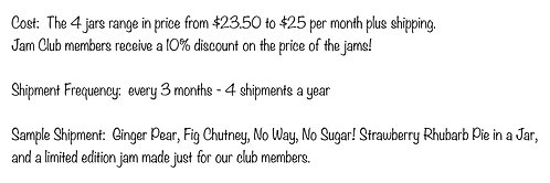 Quarterly Jam Club Membership - 1st shipment price