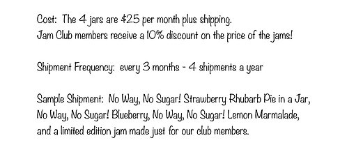 No Way, No Sugar! Only Quarterly Membership
