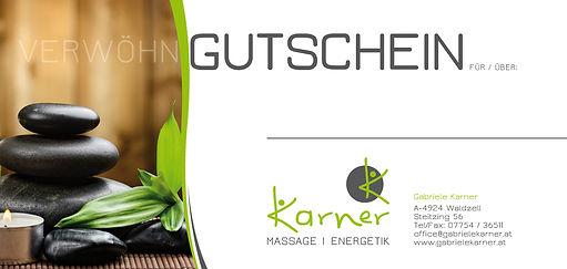 Gabriele Karner, Massage, Waldzell, Gutschein