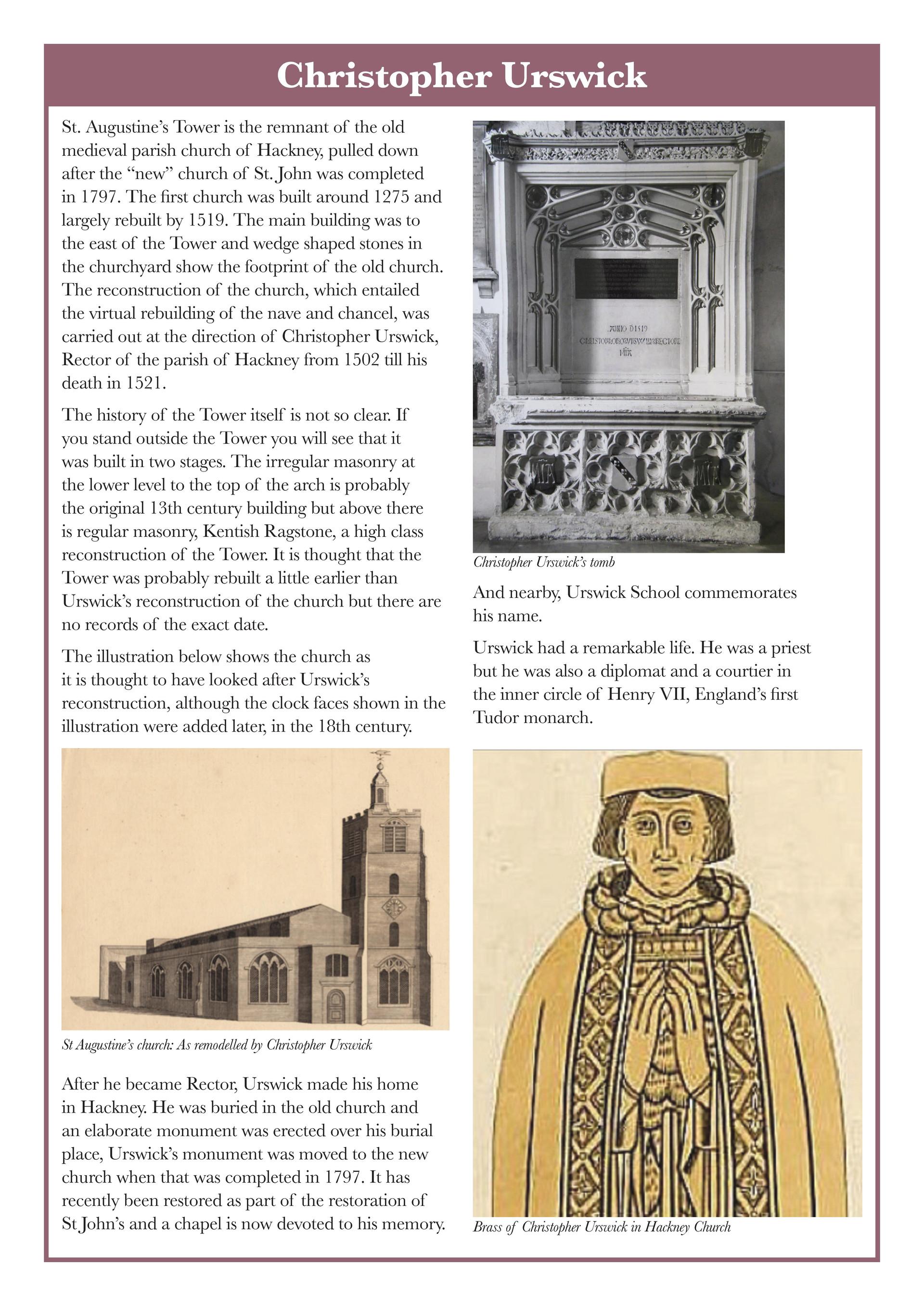 CHRISTOPHER URSWICK'S RESTORATION OF ST. AUGUSTINE'S CHUCH /1