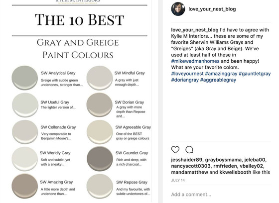 The 10 Best Gray and Greige Paint Colors