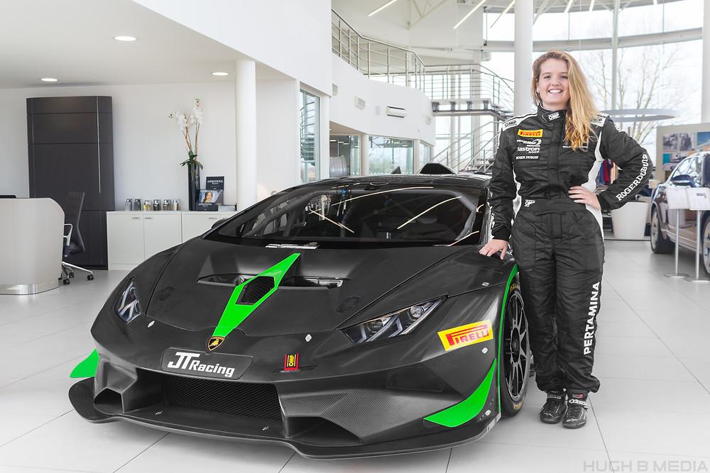 Caitlin Wood Lamborghini