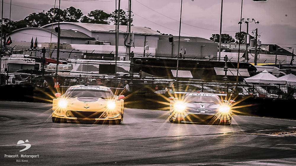 Corvette and Ford GT Daytona