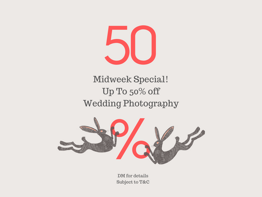 Up To 50% Off Wedding Photography