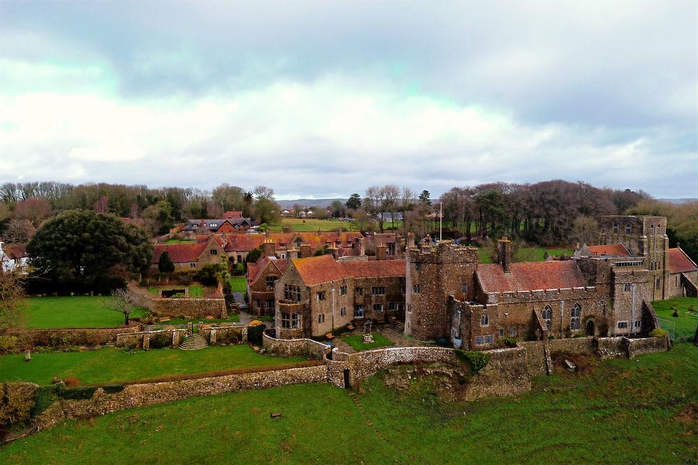 Drone photo of Lympne Castle