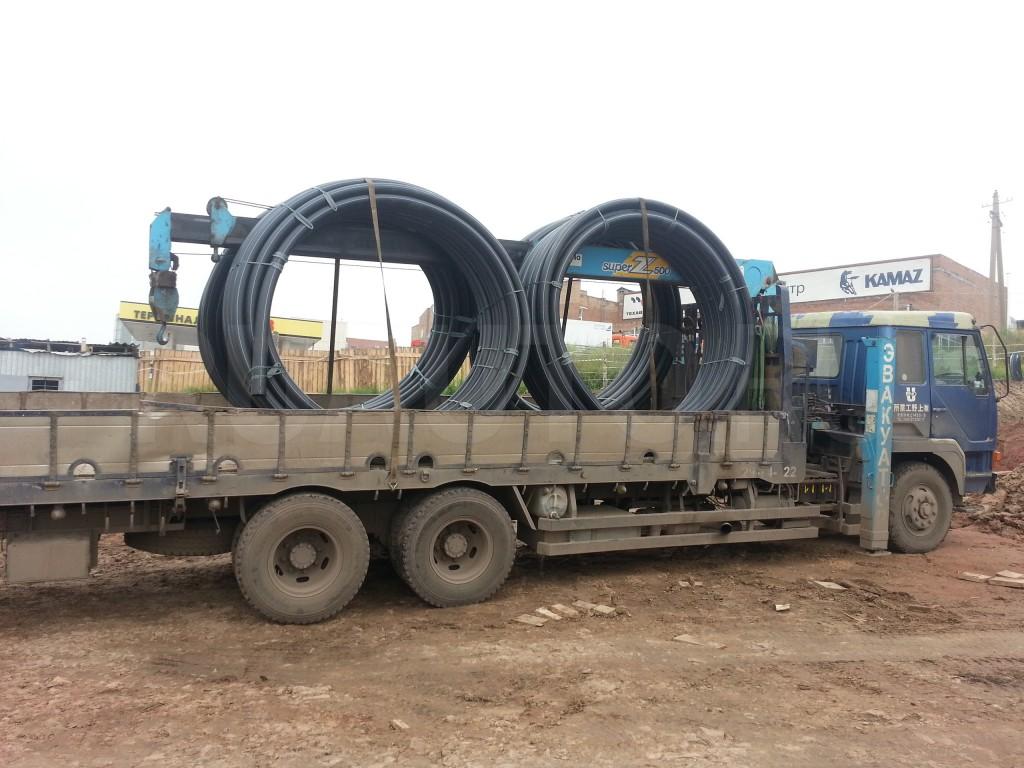 Перевозка кабеля, пластиковых труб