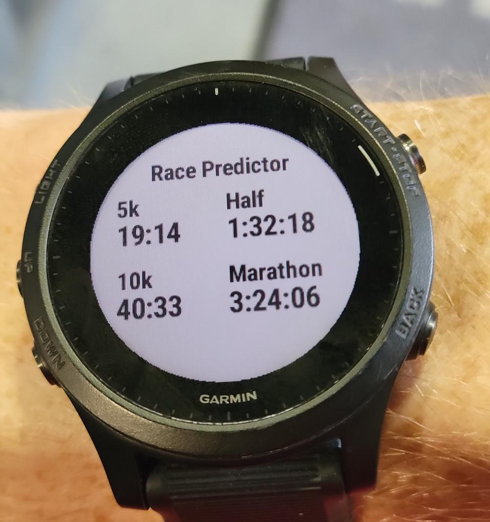 Garmin 945 Race Predictor