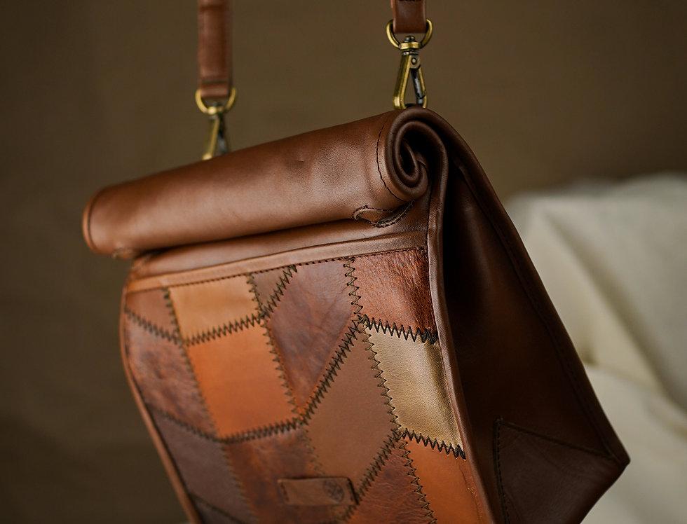Lunch Bag de Piel Cognac