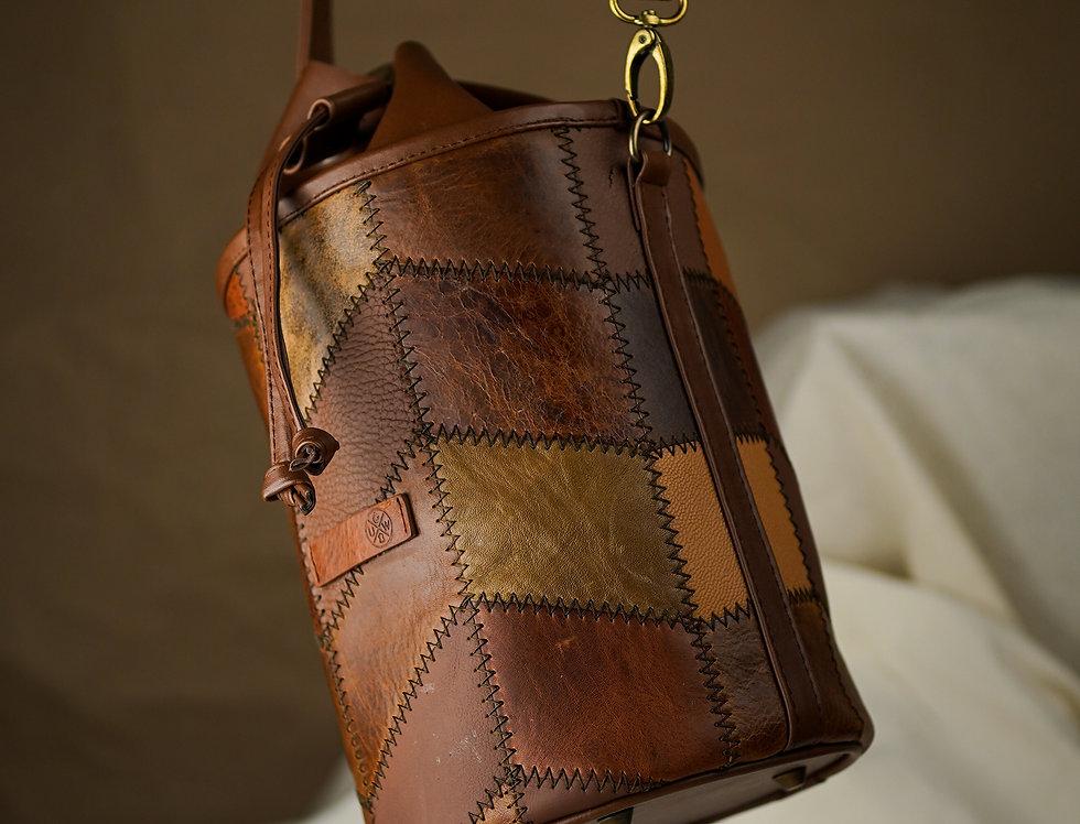 Bucket Bag de Piel Cognac