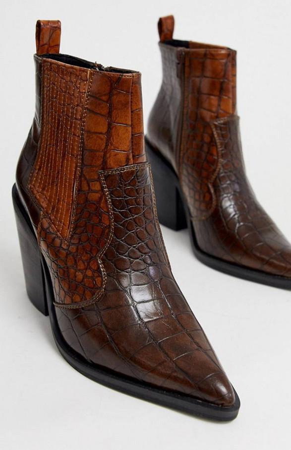 Burgandy Croc Boots