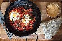 Homemade Shakshuka😍👌🏽 #eggs #hummus #
