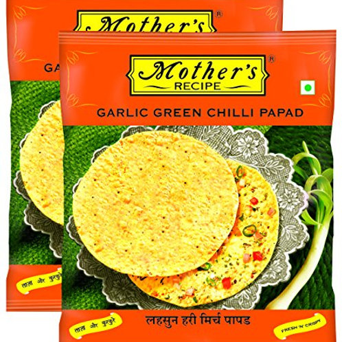 MOTHER'S RECIPE GARLIC GREEN CHILLI PAPAD