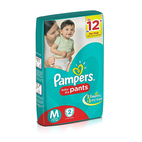 PAMPERS DIAPERS M 2S PK8