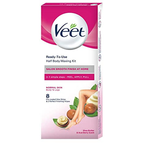 VEET HALF BODY WAXING KIT NORMAL SKIN 8S