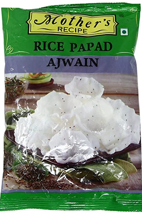 MOTHER'S RECIPE RICE PAPAD AJWAIN 75G