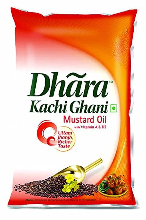 Kachi Ghani Mustard Oil (Dhara) 1 ltr