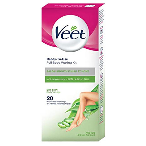 VEET HALF BODY WAXING KIT DRY SKIN 8S