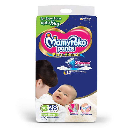 MAMYPOKO DIAPER NEW BORN BABY 28S