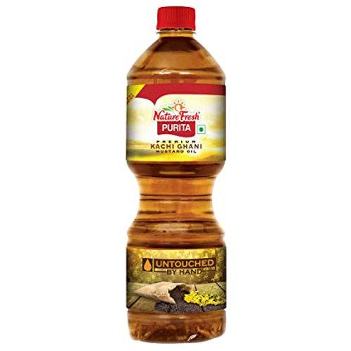 Kachi Ghani Pure Mustard Oil (Nature Fresh) 1ltr