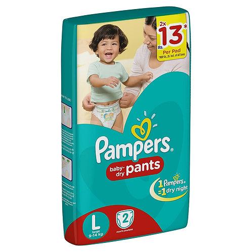 PAMPERS DIAPER L 2S PK8