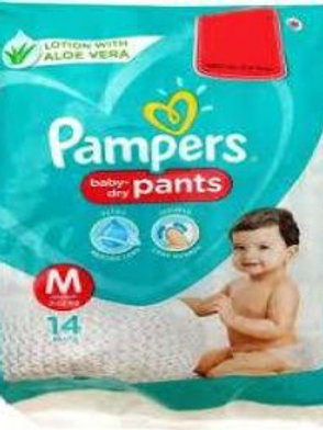 PAMPERS DIAPER M 14S