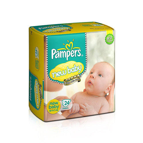 PAMPERS BABY NEW BORN 24S