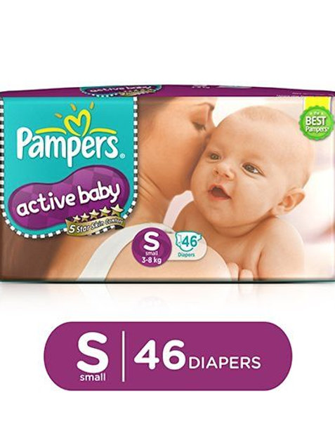 PAMPERS DIAPER ACTIVE BABY S 46S