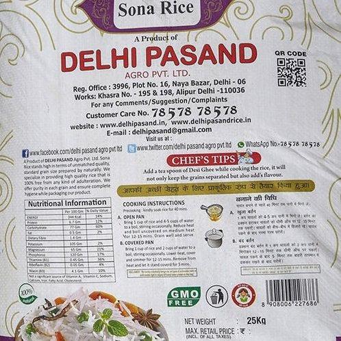 DELHI PASAND - MASURI STEAM RICE 25KG