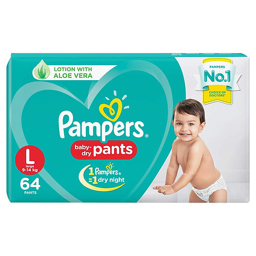 PAMPERS DIAPER PANTS L 64S