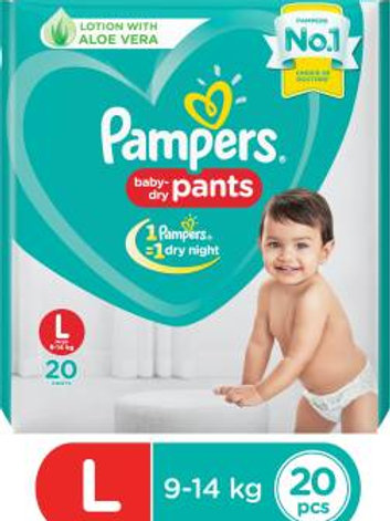 PAMPERS DIAPER L 12S