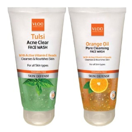 VLCC TULSI FACEWASH 150ML B1 GET FREE ORANGE OIL ...