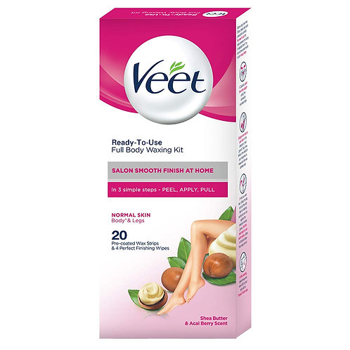 VEET FULL BODY WAXING KIT NORMAL SKIN 20S