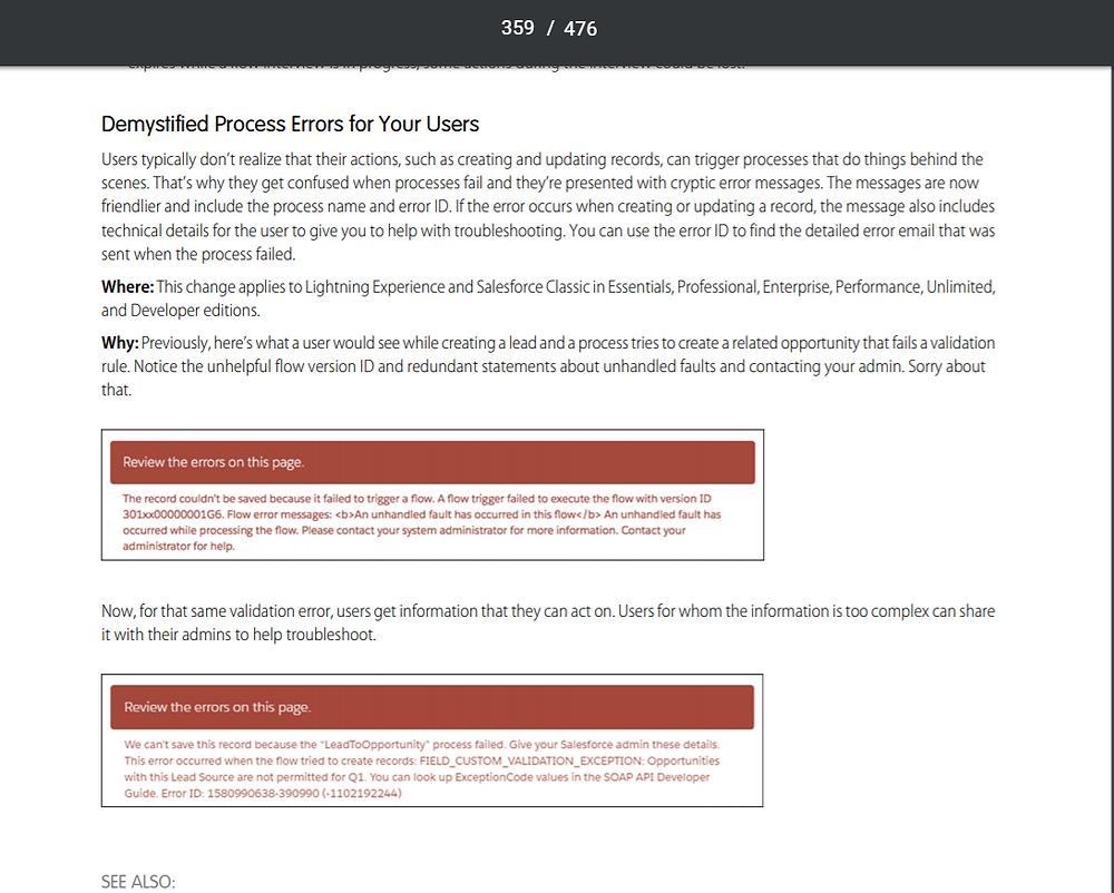Salesforce Process Builder: Error Handling
