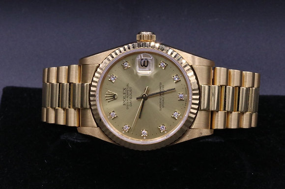 18 k yellow gold Datejust used Rolex