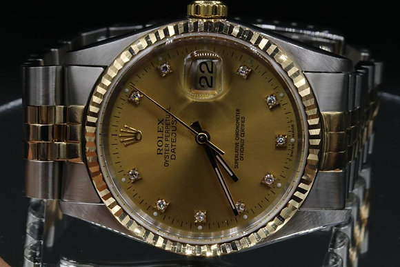 Datejust Used Rolex 2-Tone Gold and Steel