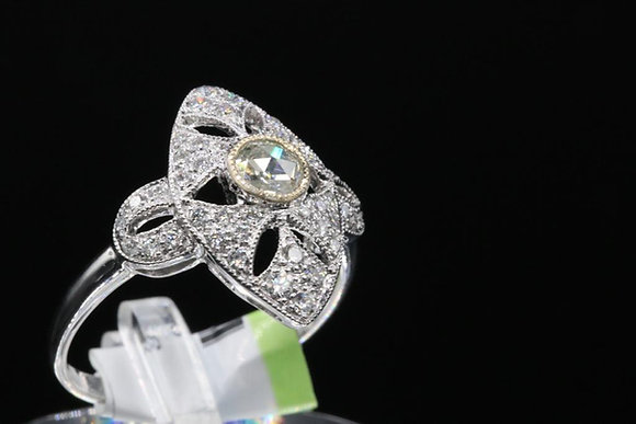 Antique Reproduction 18k Diamond Ring