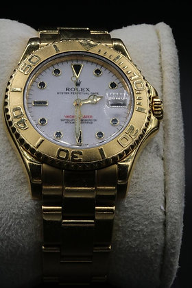 18 k gold Yacht Master Used Rolex
